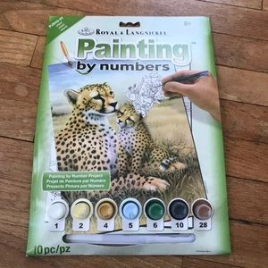 Other - NWT Paint by Number Cheetah Painting Kit